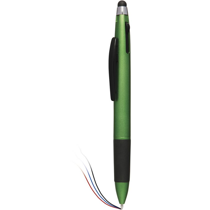 3 COLOURS BALL PEN WITH TOUCH SCREEN