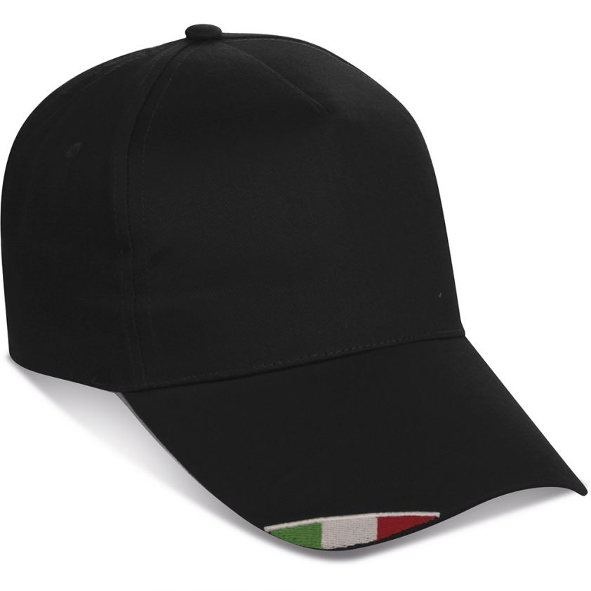5 PANELS CAP WITH ITALIAN FLAG