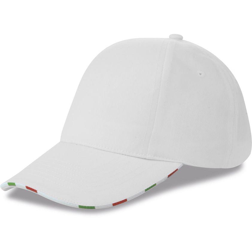 TURNED 6 PANELS CAP WITH ITALIAN FLAG
