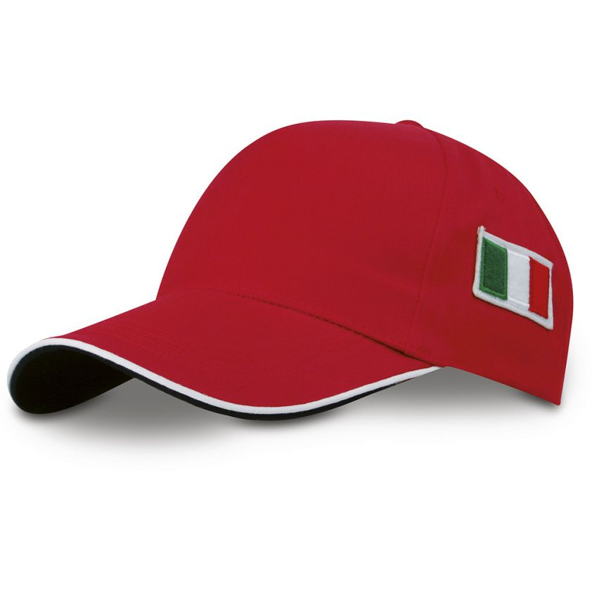 5 PANELS CAP WITH ITALIAN FLAG