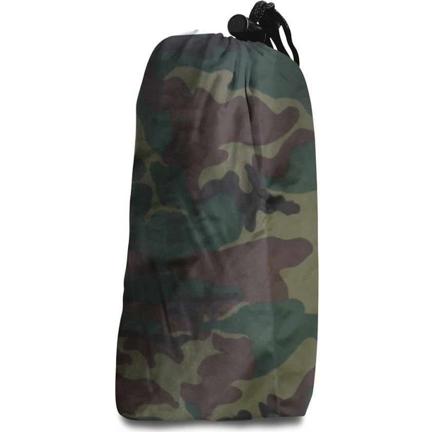 CAMOUFLAGE RAIN PROOF JACKET WITH BAG