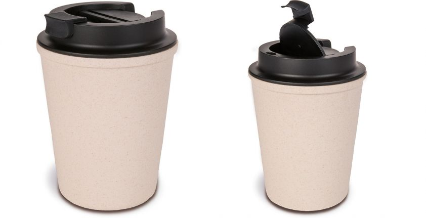 TRAVEL MUG IN BAMBOO FIBER AND PP 350 ML