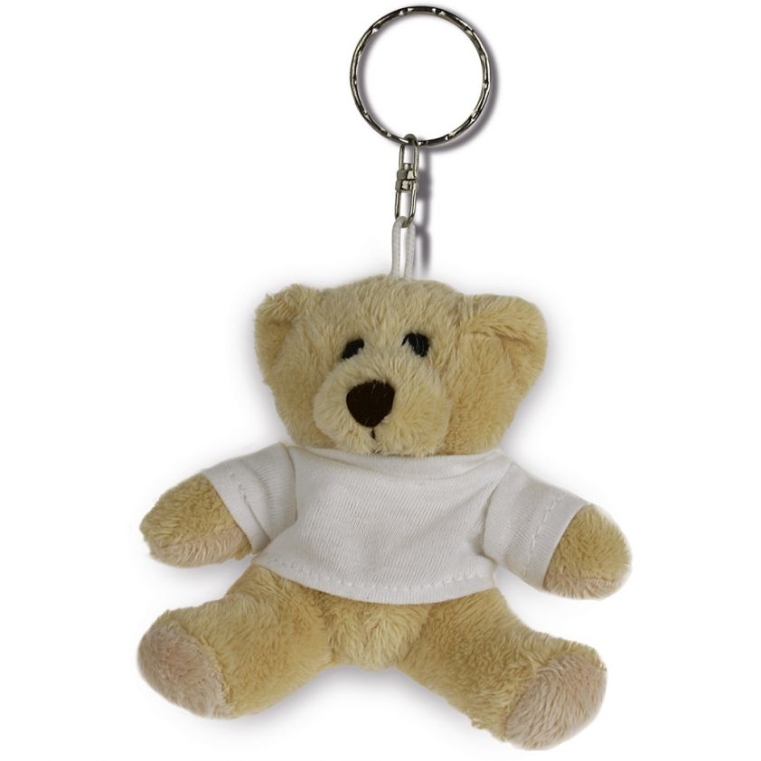 KEY CHAIN BEAR WITH DRESSED T-SHIRT