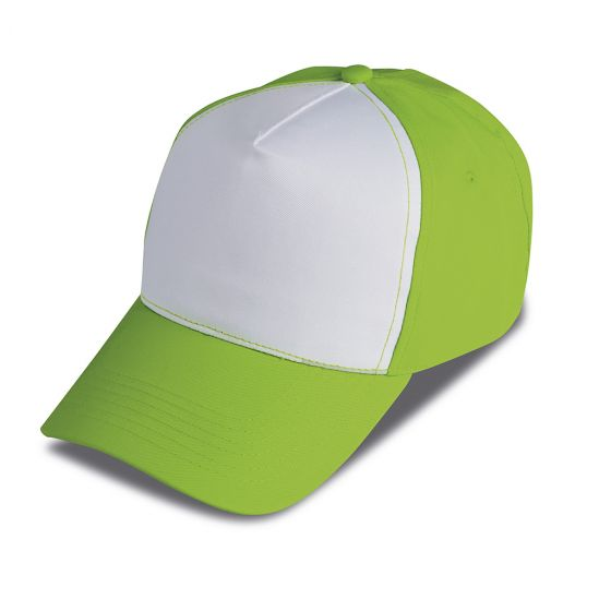 TWO COLOURS 5 PANELS GOLF CAP